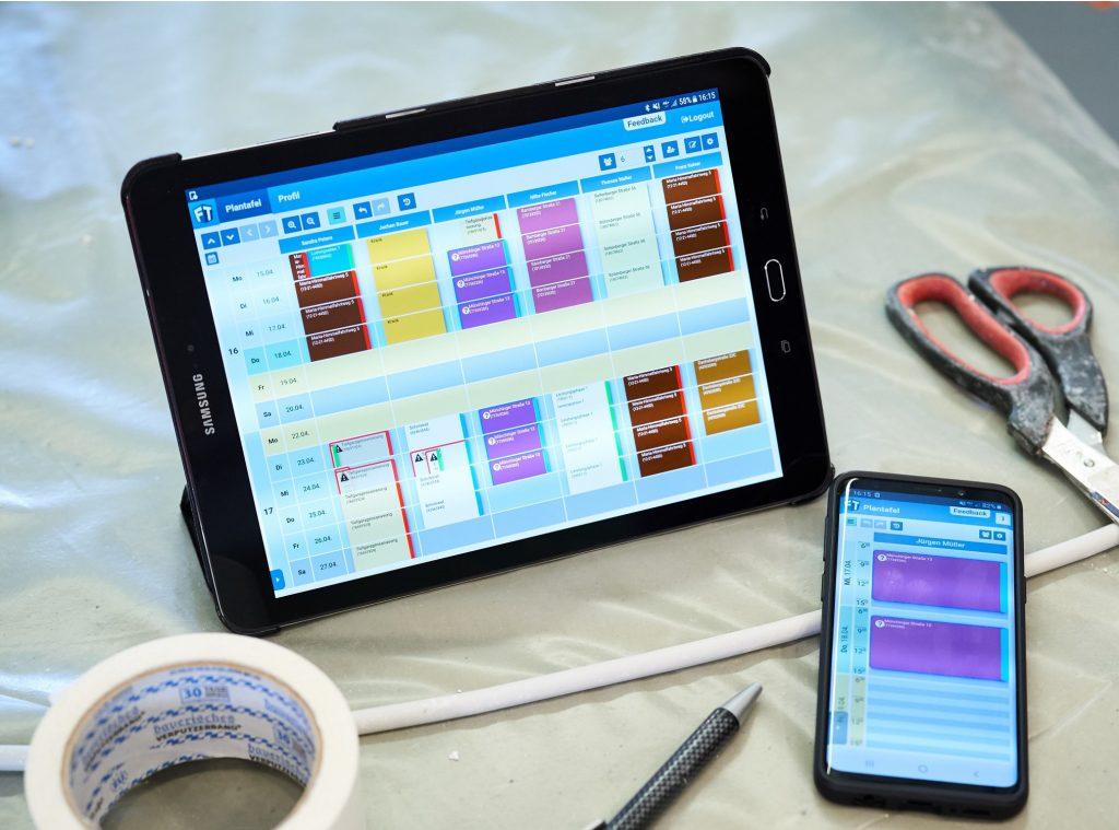 FiliTime Digitale Plantafel Tablet Smartphone Wochen- und Tagesansicht richtig nutzen